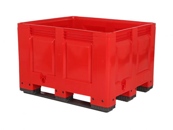 Palettenbox - 1200x1000mm - 3 Kufen - Rot