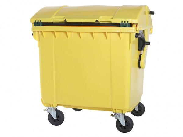 Müllcontainer - 1100 Liter - Schiebedeckel - Gelb