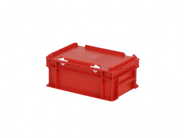 Stapelbehälter mit Deckel - 300x200xH133mm - Rot