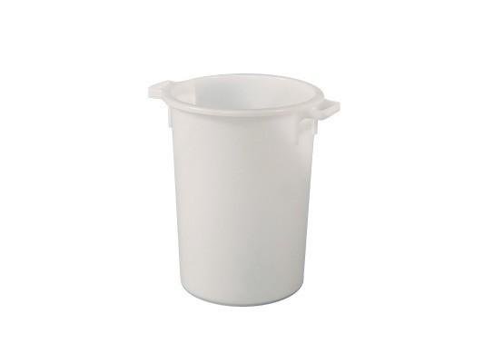 Tonne aus Kunststoff 50 Liter - heavy duty - Weiß