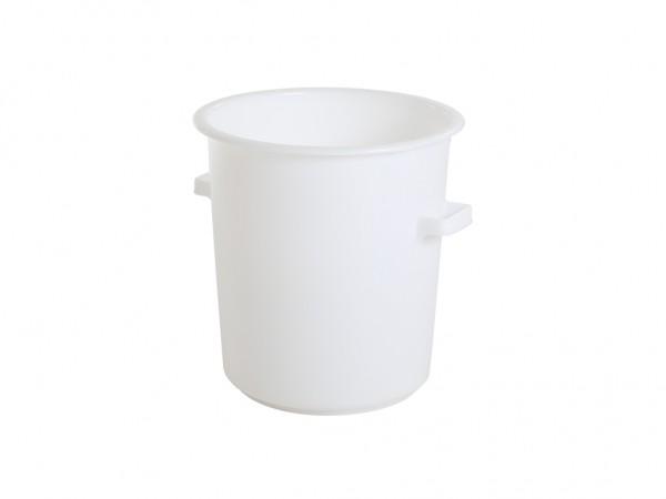 Tonne aus Kunststoff 75 Liter - heavy duty - Weiß
