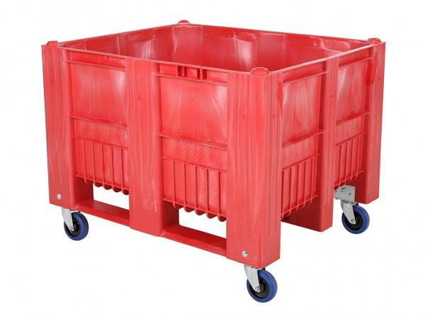 CB3 Palettenbox - 1200x1000mm - auf Rollen - Rot