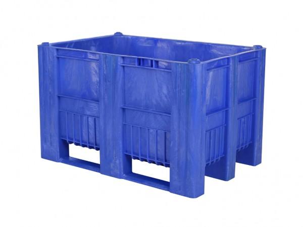 CB1 Kunststoff Palettenbox - 1200 x 800 mm - auf 3 Kufen - Blau