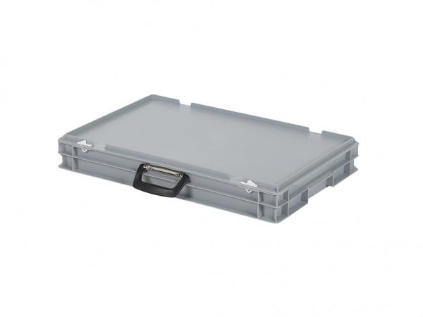 Kunststoffkoffer - 600x400xH90mm - Grau