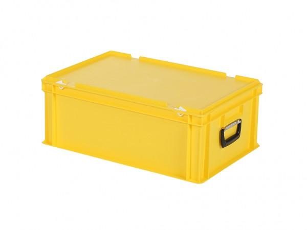 Kunststoffkoffer - 600x400xH235mm - Gelb