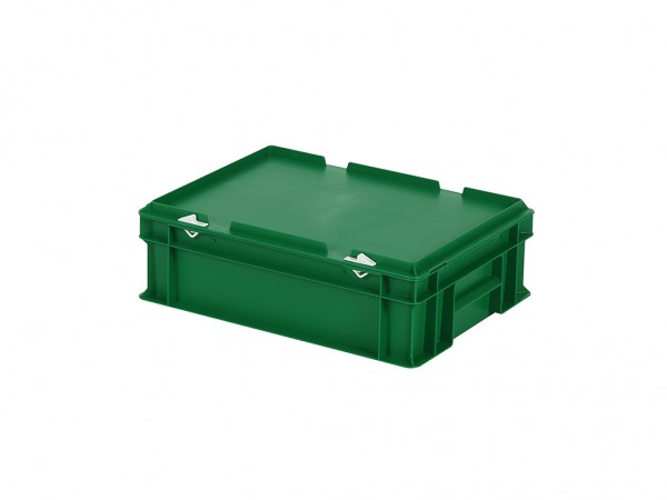 Stapelbehälter mit Deckel - 400x300xH133mm - Grün