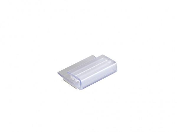 Etikettenklammer aus Kunststoff - 25x19mm - selbstklebend
