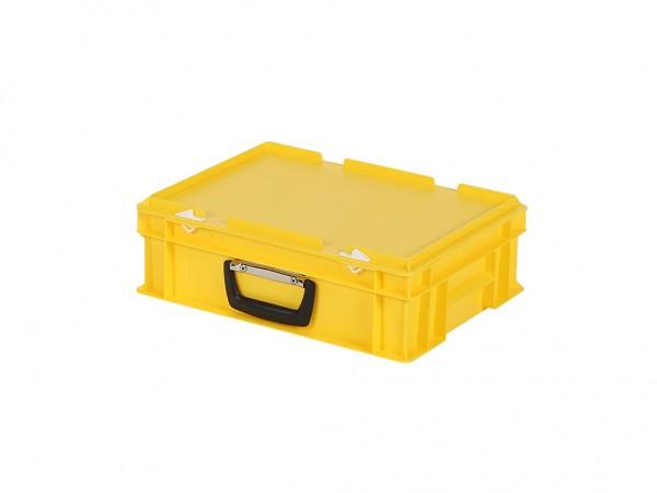 Kunststoffkoffer - 400x300xH133mm - Gelb
