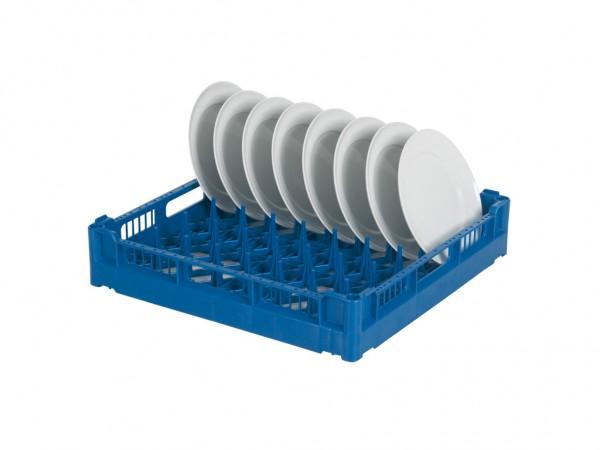 Tellerkorb 500x500mm - für 16 flache oder 12 tiefe Teller - blau