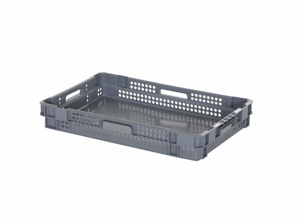SALE - Stapel-nestbarer Behälter - 600x400xH90mm - Grau