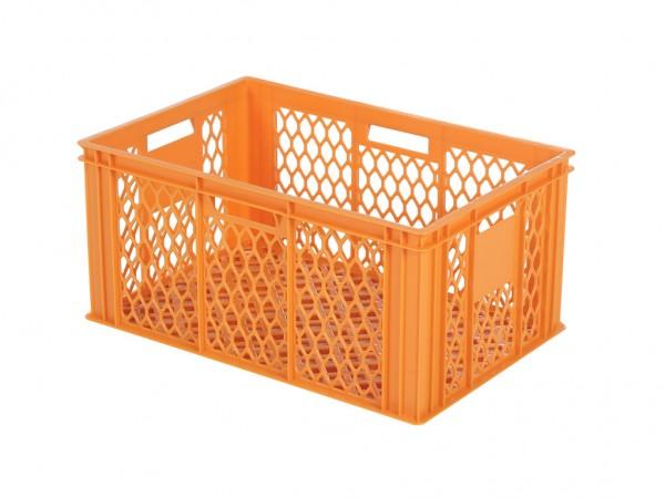 Stapelbehälter 600x400xH280mm - durchbrochen - Orange - Bäckerkiste