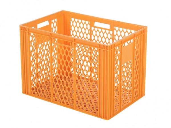 Stapelbehälter 600x400xH421mm - durchbrochen - Orange - Bäckerkiste