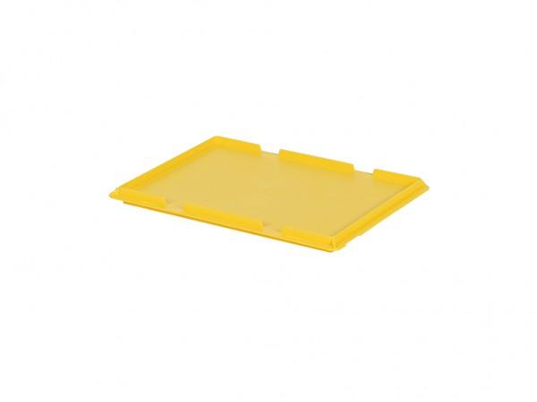 Scharnierdeckel 400x300mm - Gelb