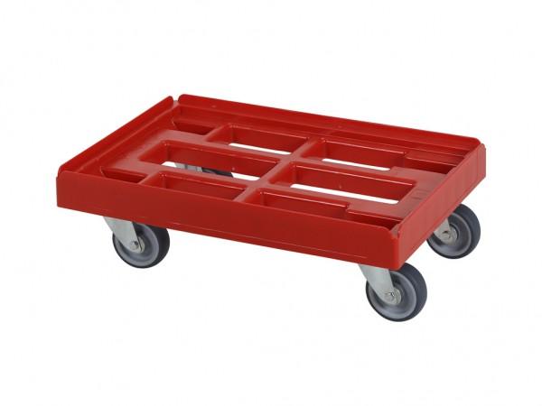 Transportroller - Rollwagen - 600x400mm - Rot
