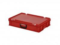 Kunststoffkoffer - 600x400xH135mm - Rot