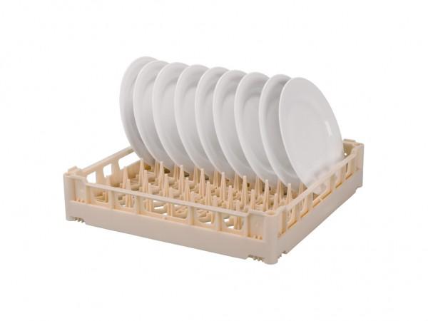 Tellerkorb 500x500mm - für 18 flache oder 12 tiefe Teller - Beige