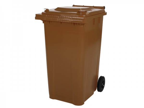 Mülltonne 240 Liter - Braun - 2 Räder - Wertstofftonne - Müllgroßbehälter