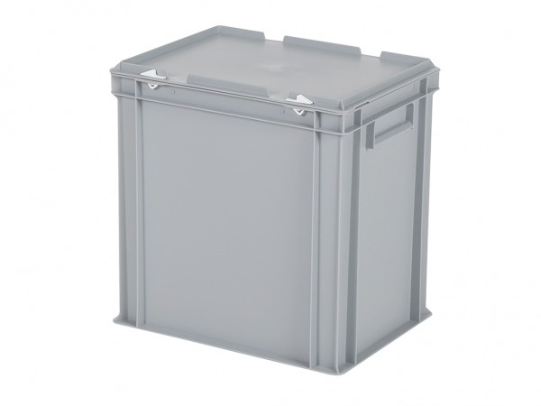 Stapelbehälter mit Deckel - 400x300xH415mm - Grau
