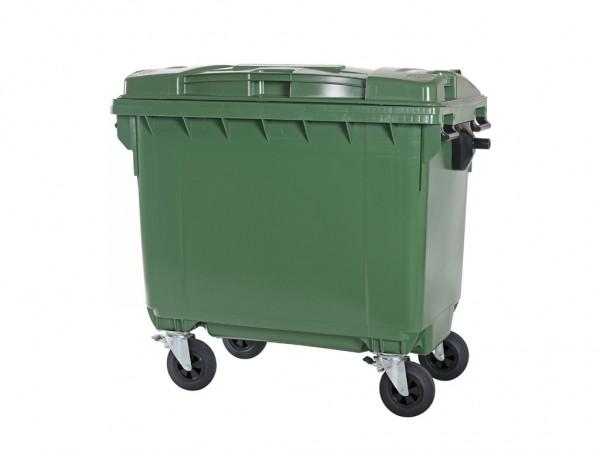 Müllcontainer 660 Liter - 4 Räder - Grün - Müllgroßbehälter