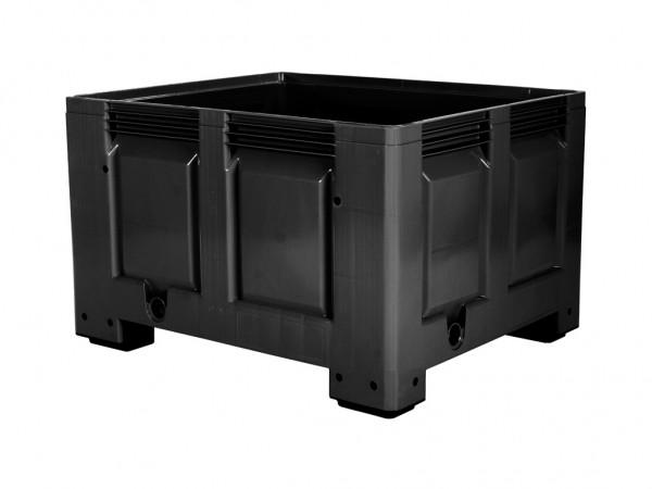 Palettenbox - 1200x1000mm - 4 Füße - Schwarz