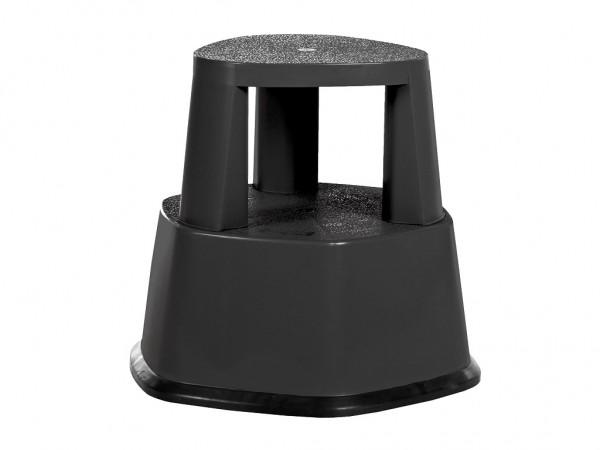 Fahrbarer Tritthocker - Ø480xH430mm - Schwarz