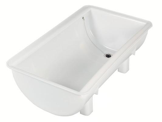 Spülbehälter 100 Liter - mit Ablauföffnung und Stopfen