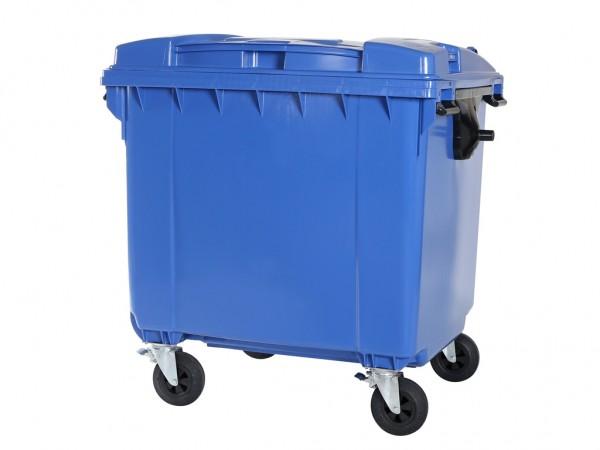 Müllcontainer - 1100 Liter - Flachdeckel - Blau
