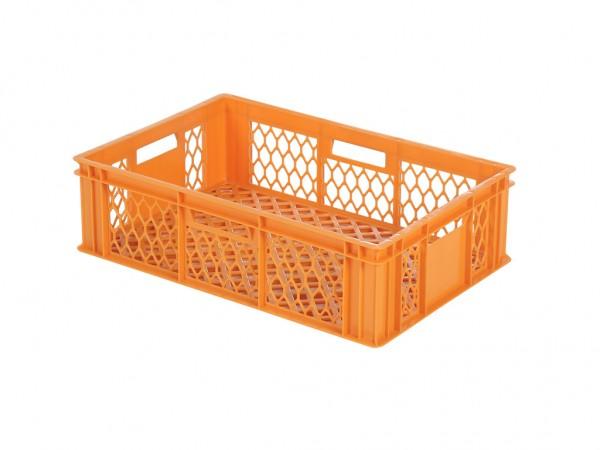 Stapelbehälter 600x400xH171mm - durchbrochen - Orange - Bäckerkiste