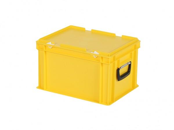 Kunststoffkoffer - 400x300xH250mm - Gelb