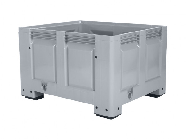 Palettenbox - 1200x1000mm - 4 Füße - Grau