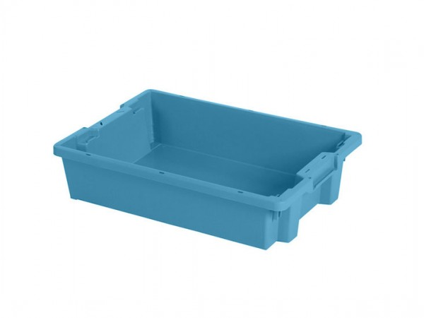 Stapel-nestbarer Behälter - 600x400xH120mm - Blau